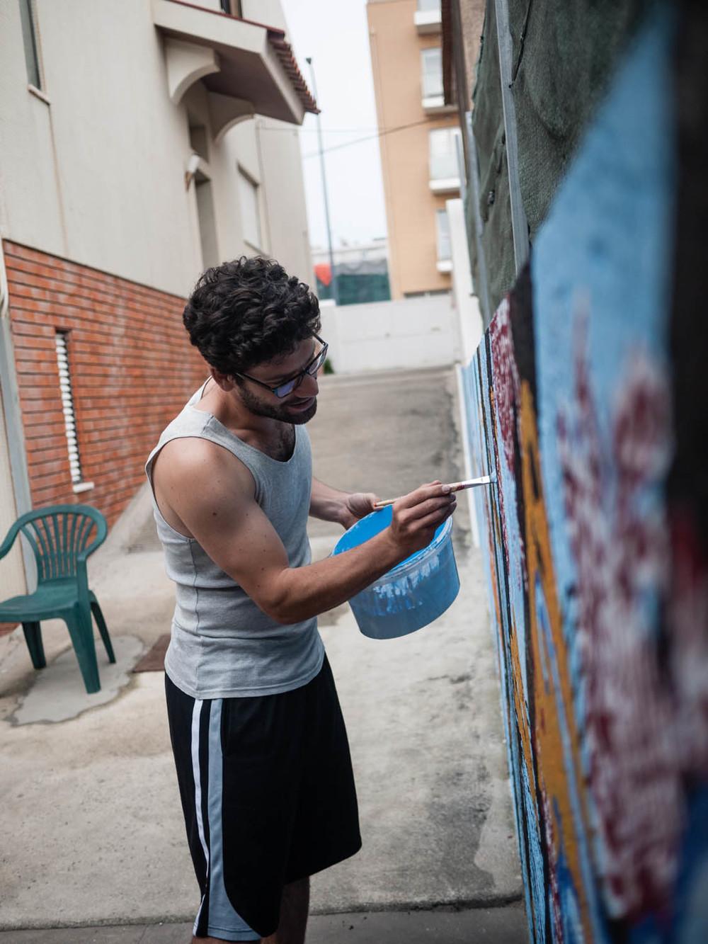 patrick painting at ruis