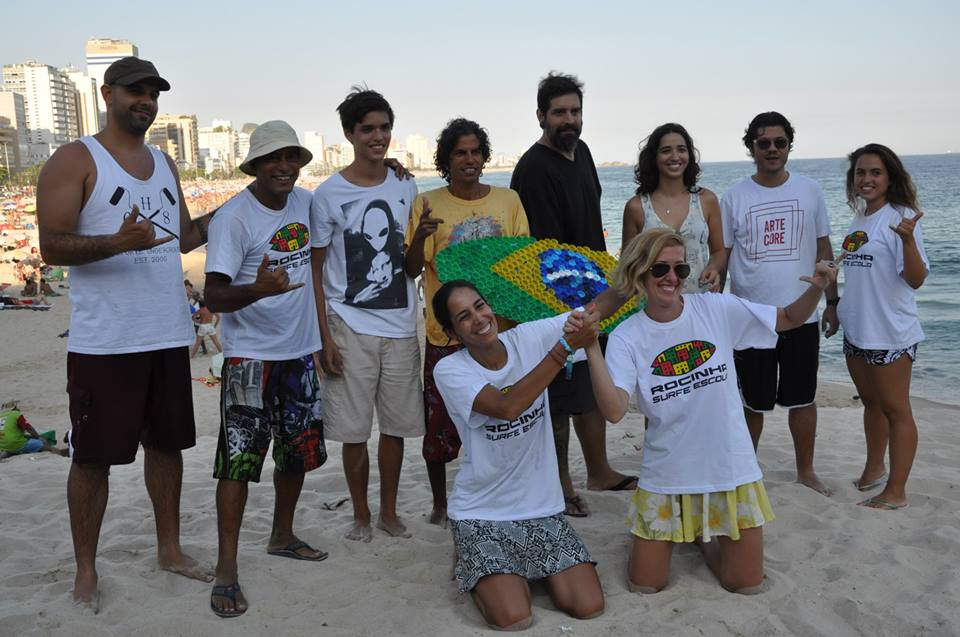 on january 26 we did our second canvas project in rio. special thanks to fernanda for taking care of this!
