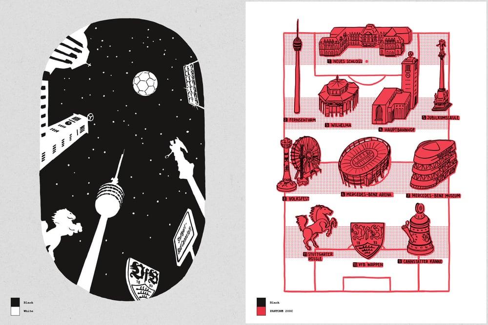 ▴ print designs  stadion  and  stuttgart