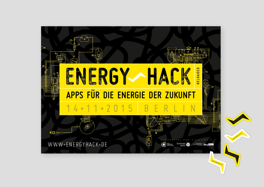 Energy hack poster & sticker