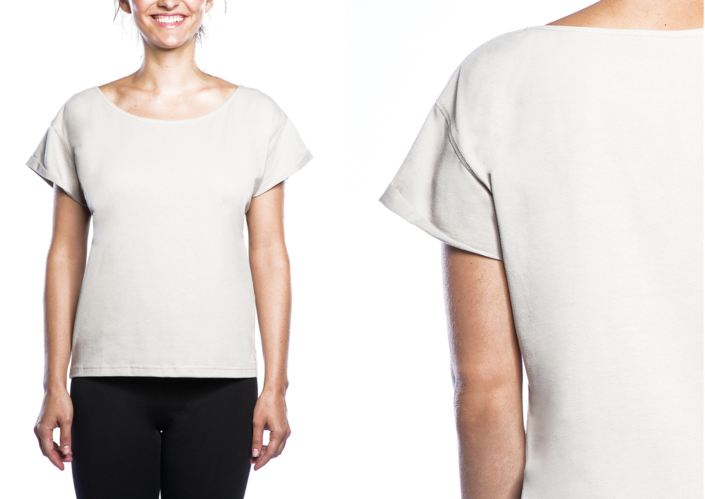 copanya warm up tee   95% organic cotton, 5% Elastane