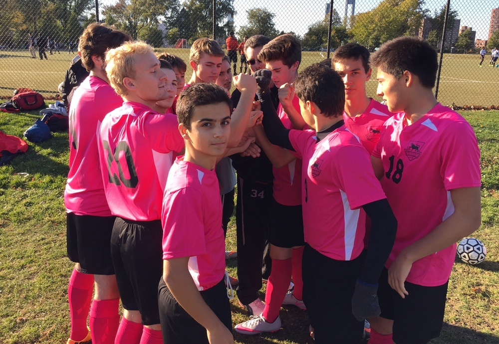 Varsity 'Pink Panthers' support fight against breast cancer.