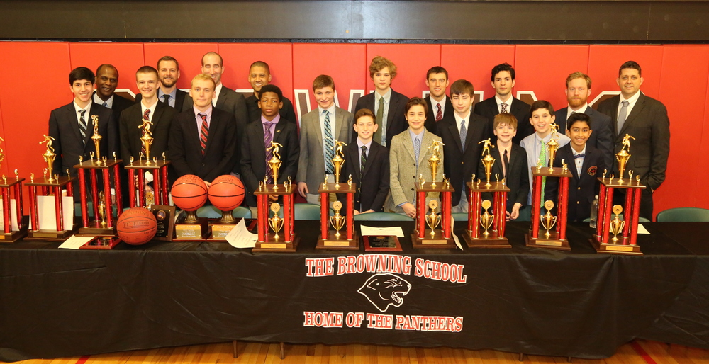 Pictured above are our MVPs with their coaches.