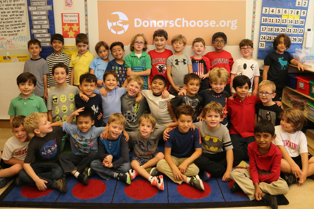 Browning held a school-wide Dress Down Day on Thursday, September 14 (Grade One pictured above) to support Hurricane Harvey and Irma Recovery Funds, sponsored by Donors Choose.