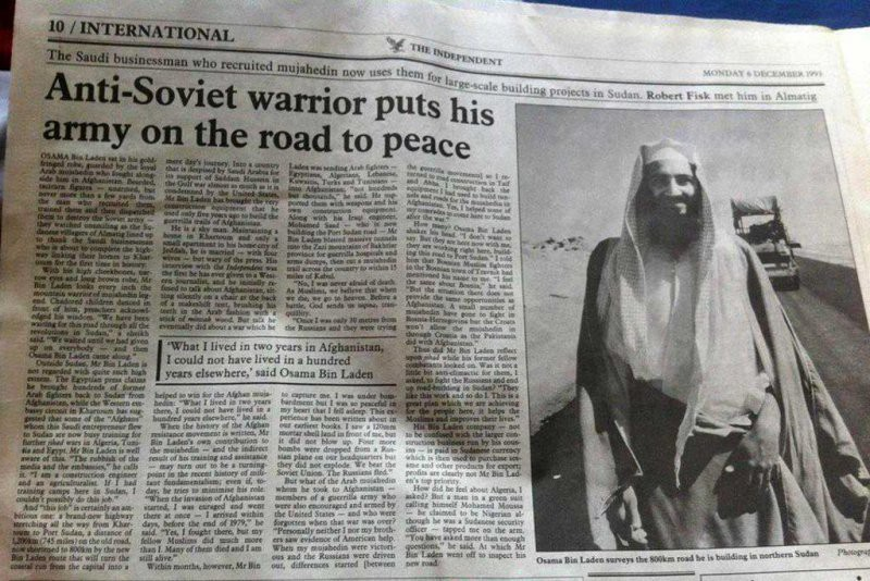 Bin Laden heralded in the British press in 1993.