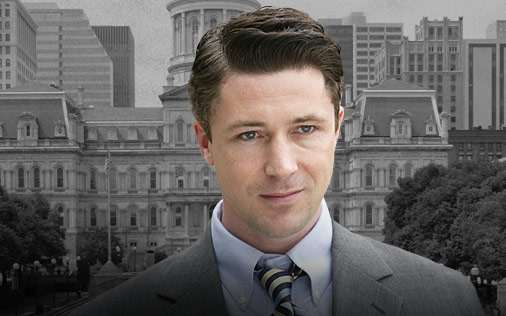 Tommy Carcetti, played by Aiden Gillen