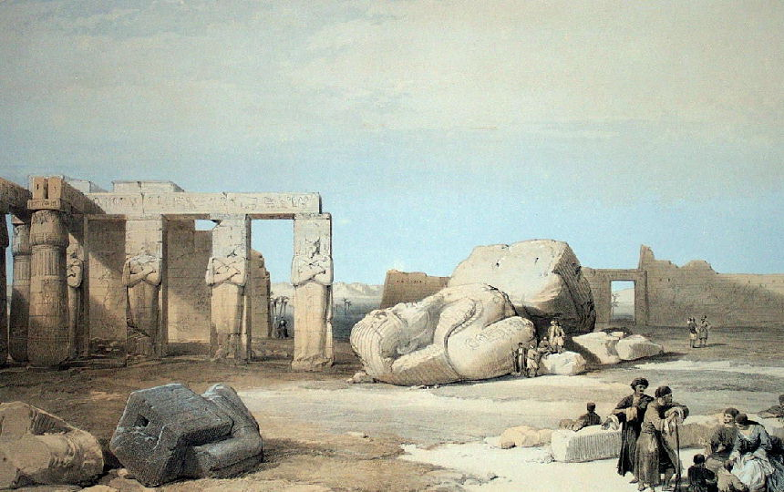 Ruins of colossal statue of Ramses II.