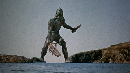 "Talos attacking the ""Argo"" in Jason and the Argonauts (1963)."