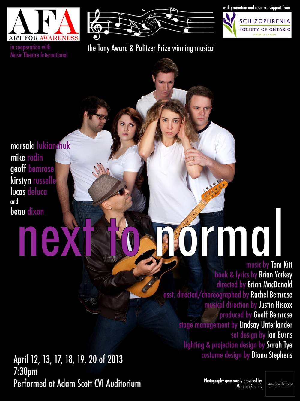 To view images and video, please visit our  Next to Normal gallery page