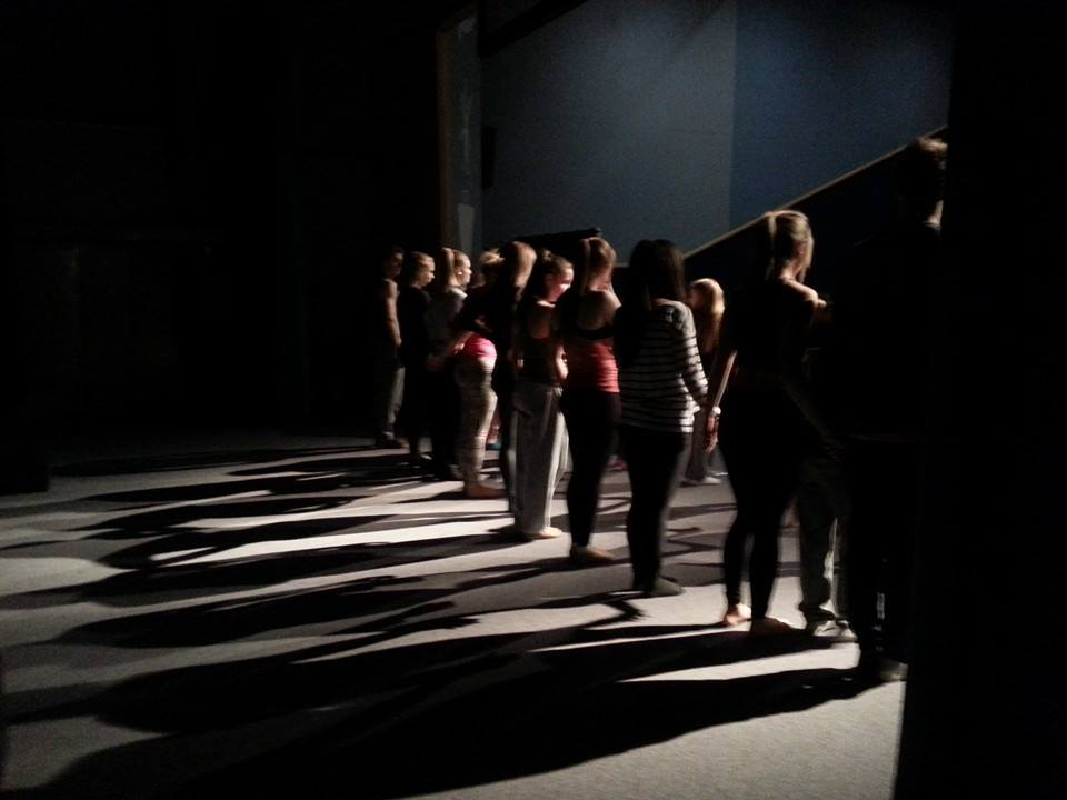 The dancers practice their curtain call.