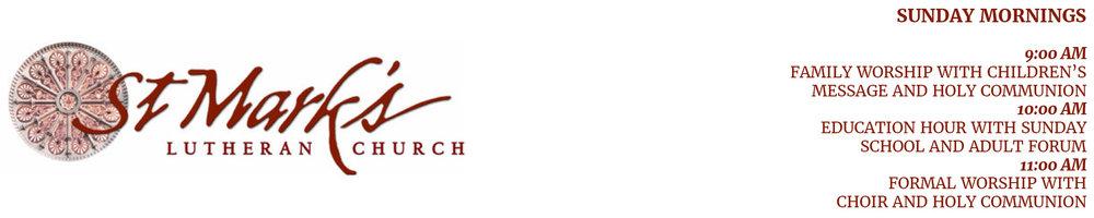 Sermons — St  Mark's Lutheran Church