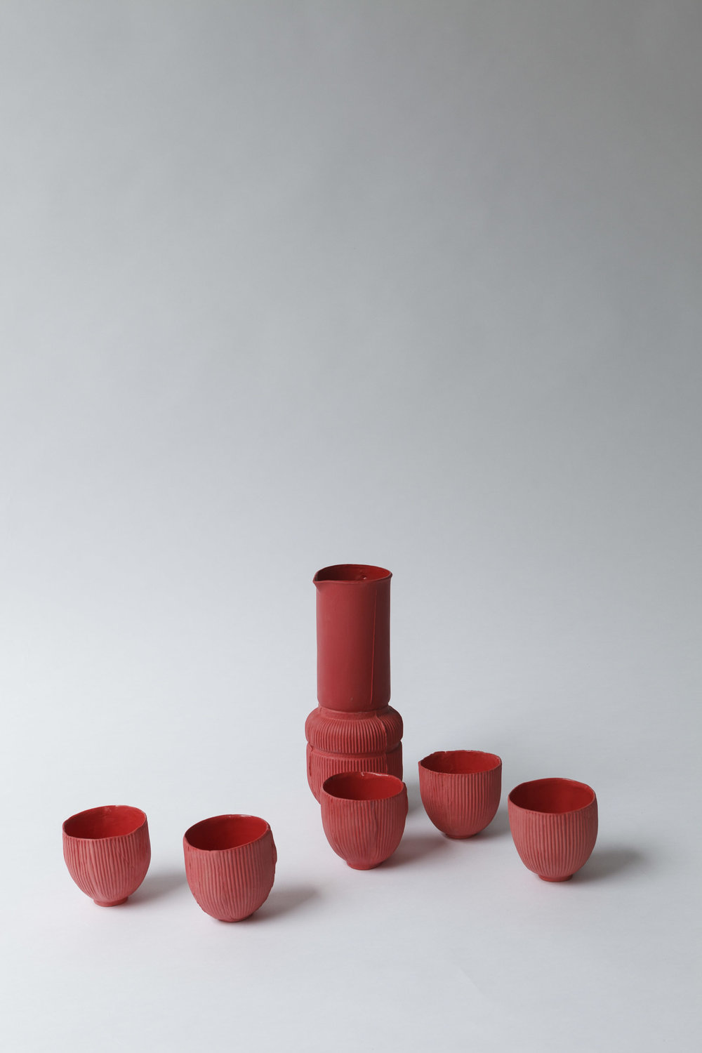 CERAMIC SERIES ITALIAN RED  Red porcelain manufactured by ceramic artist  Sarah Pschorn   Many thanks to Sarah for this wonderful collaboration!