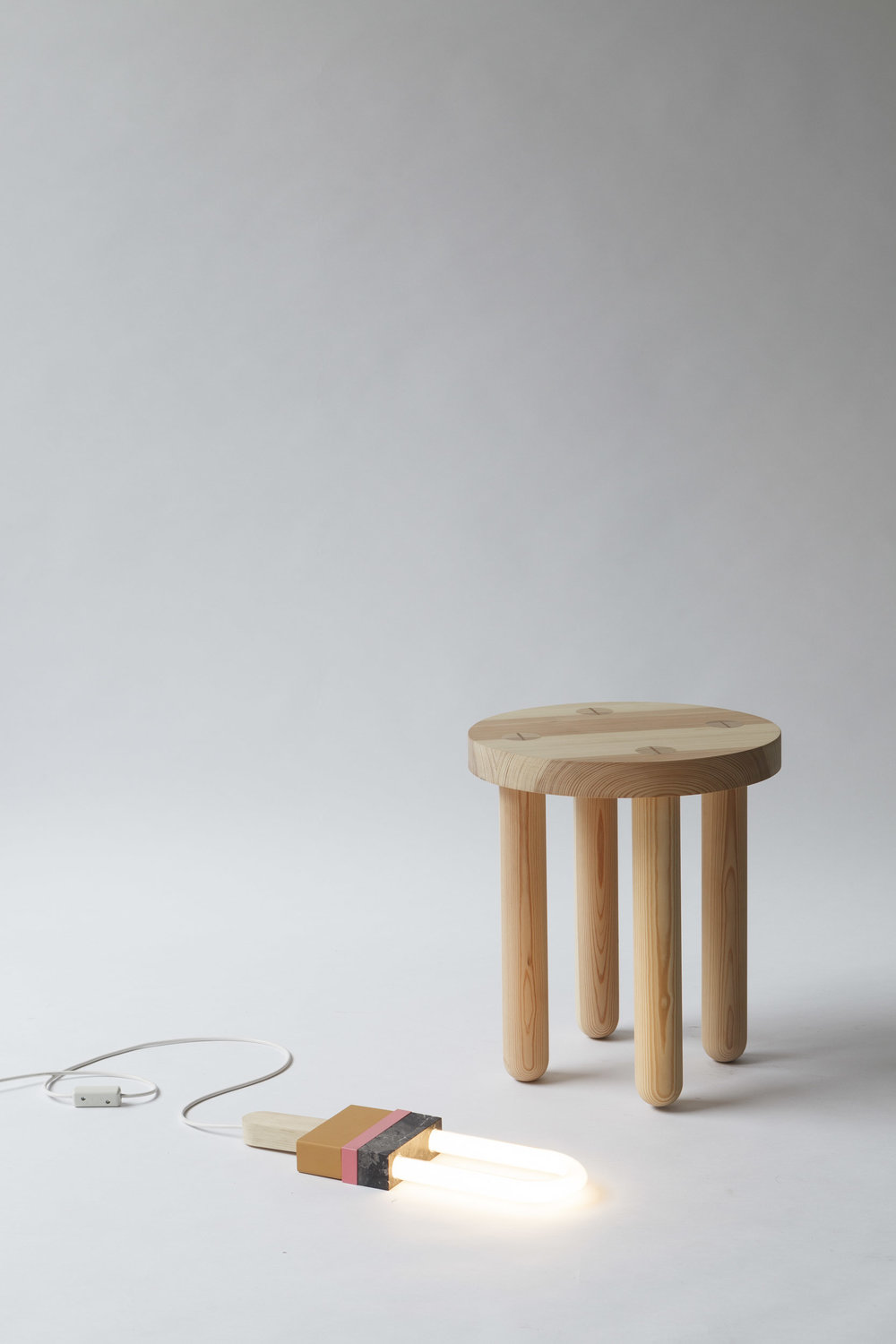 STOOL DOT DOT,  SOLID WOOD, OILED  40 x 40 x 45cm
