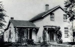 The first wood-framed house in Rochester, Courtesy of the History Center in Olmsted County and the Post-Bulletin