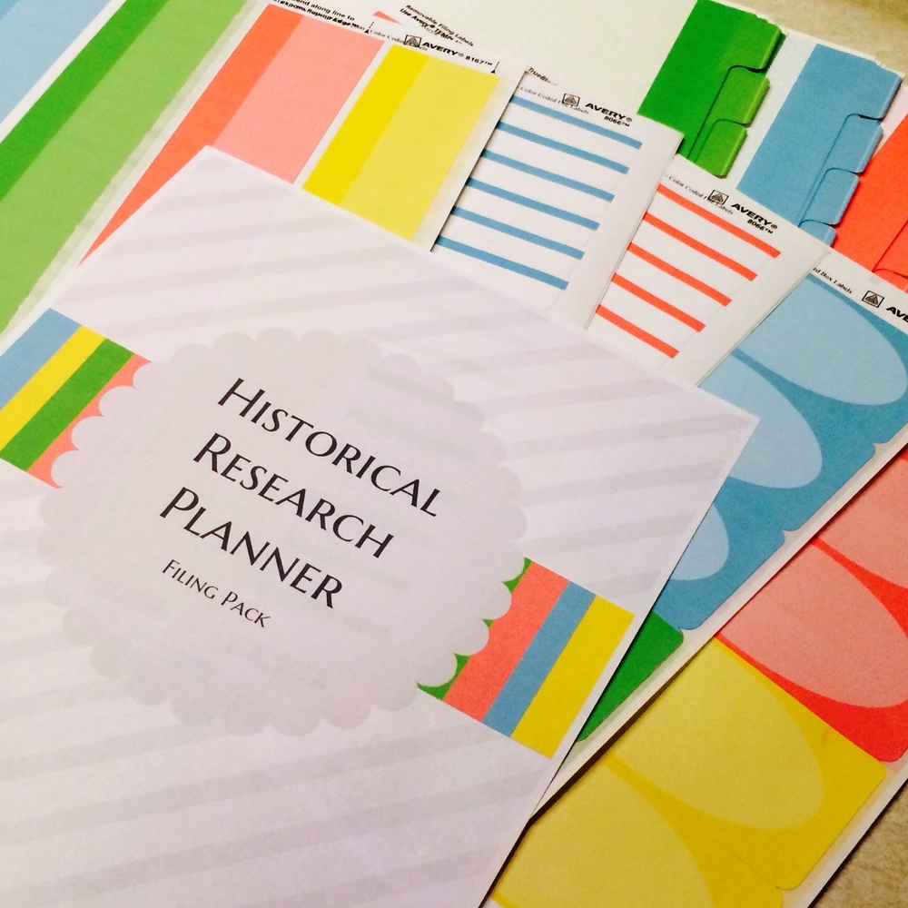 Historical Research Planner Filing Pack