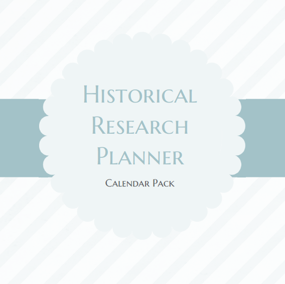 Historical Research Planner Calendar Pack