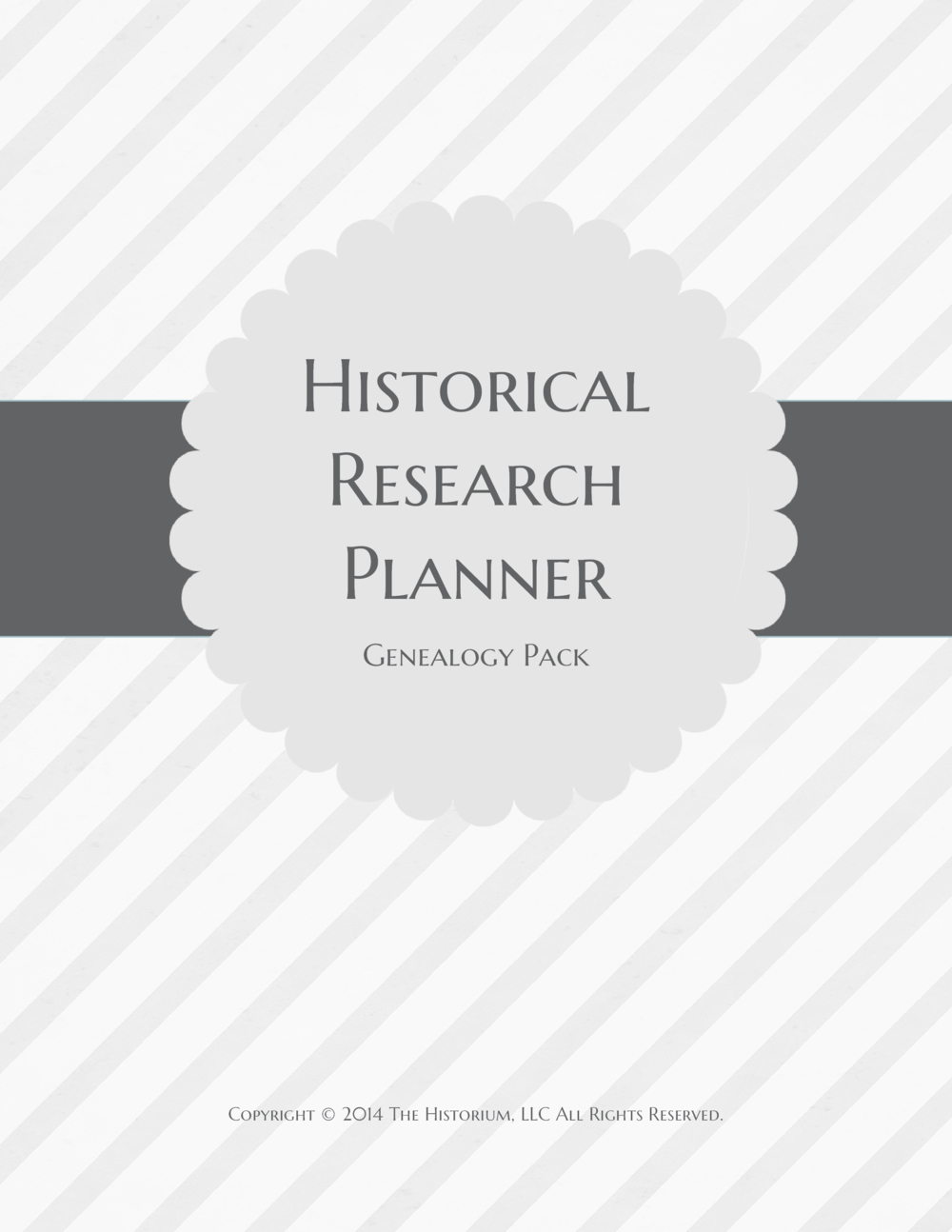 Historical Research Planner Genealogy Pack