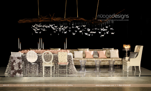 Fabulous decor by Nuage Designs, one of the nation's most prestigious event designers.