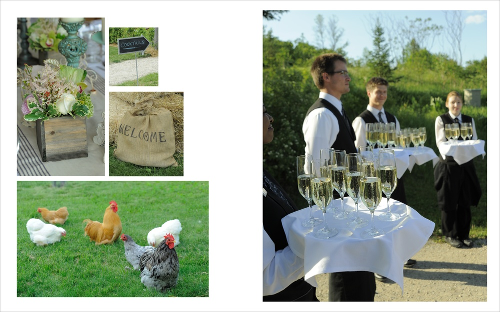 Chickens + Champagne = Always a Good Idea