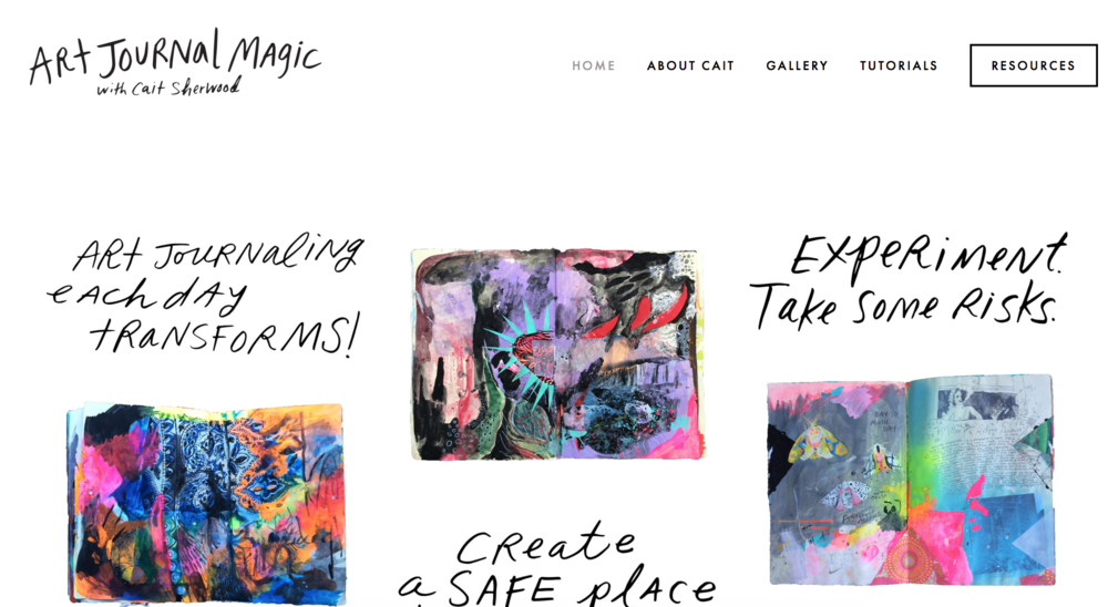 This is a screen cap of a site I designed for my imaginary art journaling course.