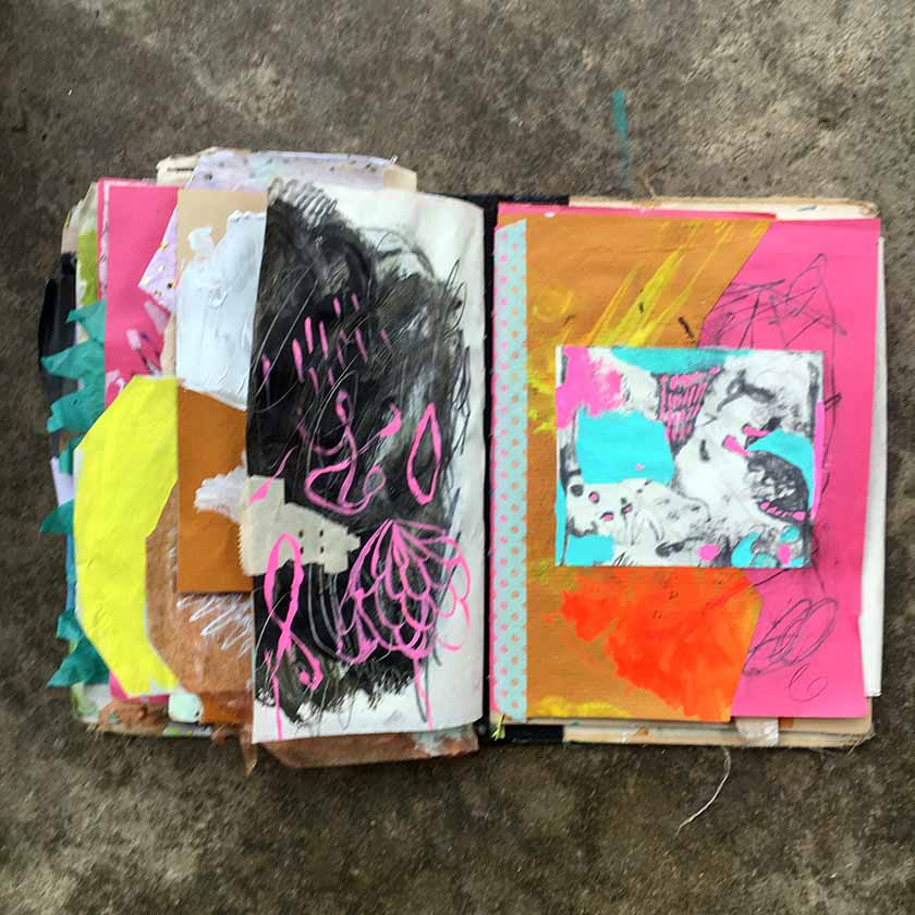 Abstract whatever-ing in my journal.