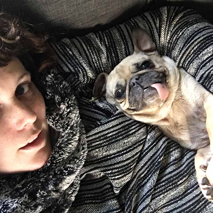 Me & my snuggly pug.