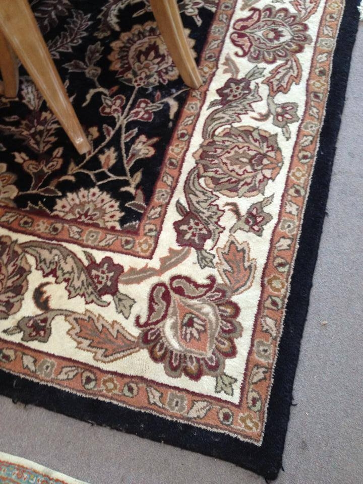 Black and Rust Rug