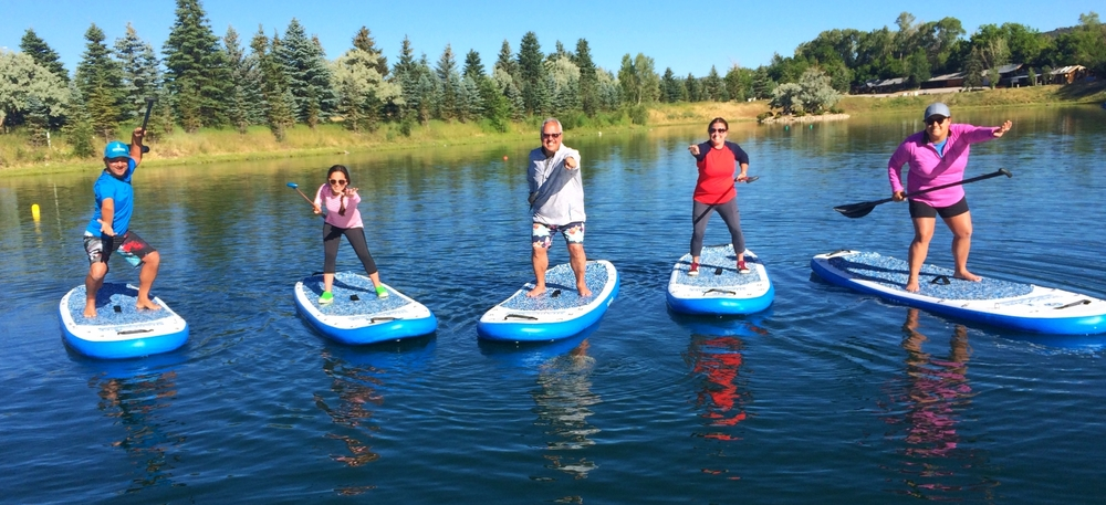 Family SUP lesson …Shaboomee Ninja style!