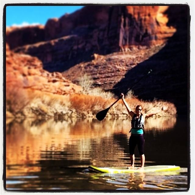Moab is a year-round SUP destination, where you can get on the water spring, summer, fall or winter!