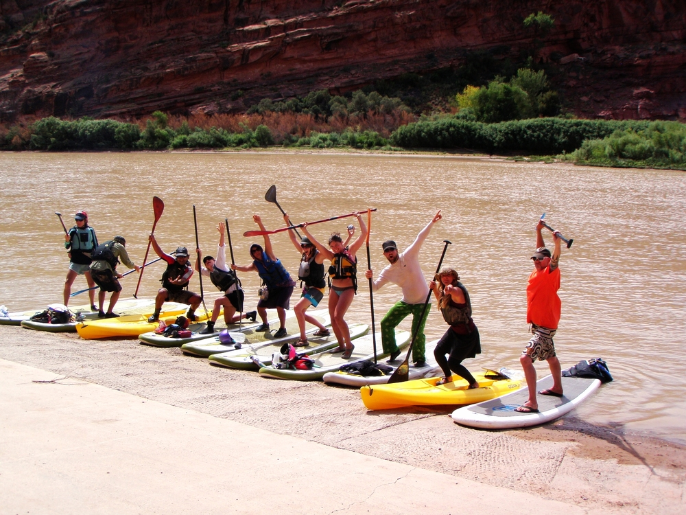 SUP Qwest crew ready about to hit the water!