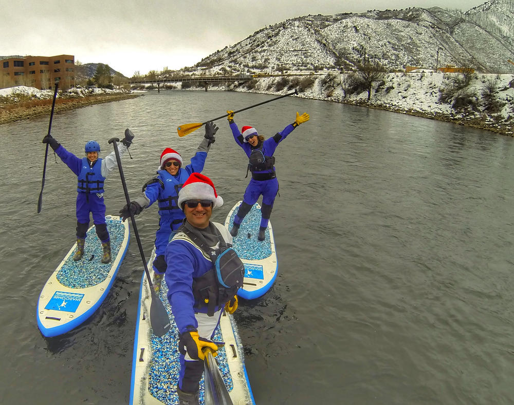 winter paddle board adventure on the colorado river
