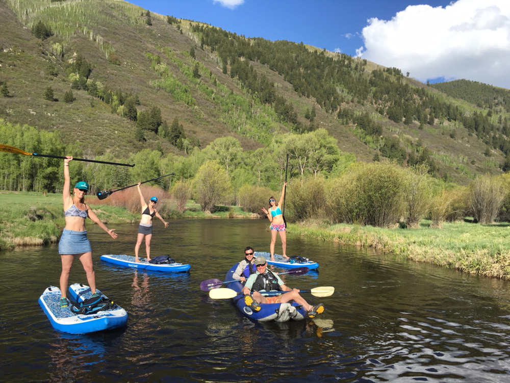 Northstar Preserve paddle board float with rangers
