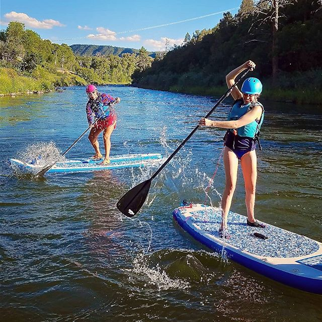 It's all fun and games by the middle of June.  This is when the river stops splashing us so we start splashing each other!! Day 41!! Woo!! #yestoadventure #supyes #shaboomee #100daysonaSUP #GLOSSY