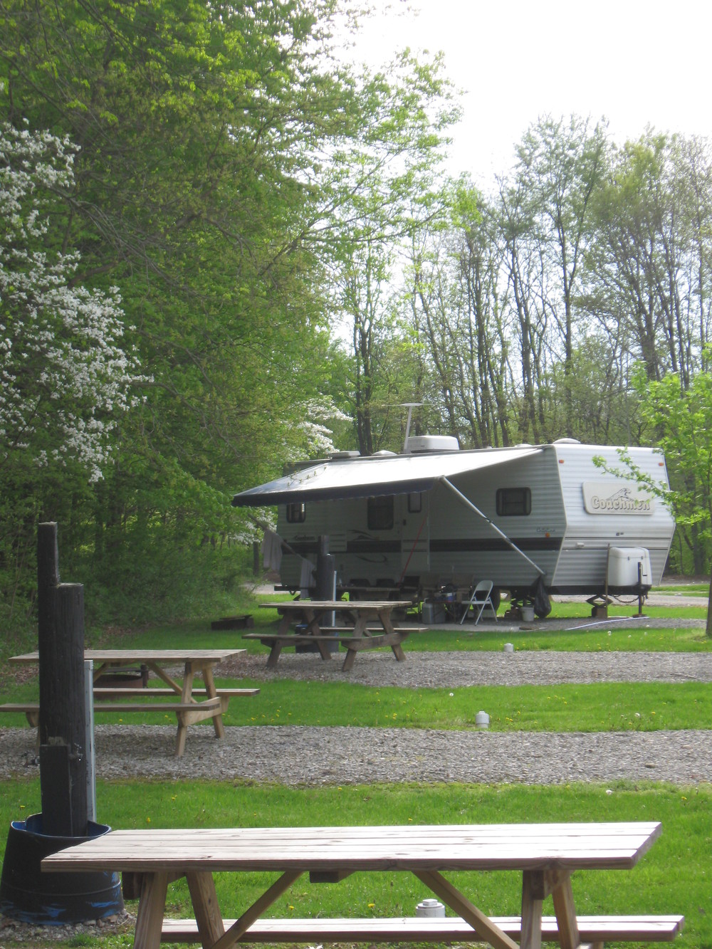 Our park hosts the conveniences of modern camping. 12 full hook-up sites two of which are pull through. 44 water/electric sites and 110 primitive sites.