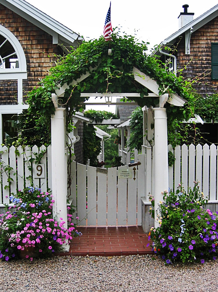 Covered Garden Gates. Garden Gates With Arbors, Often Draped With Rambling  Vines, Are Another Classic New England Detail. Consider Adding A Covered  Garden ...
