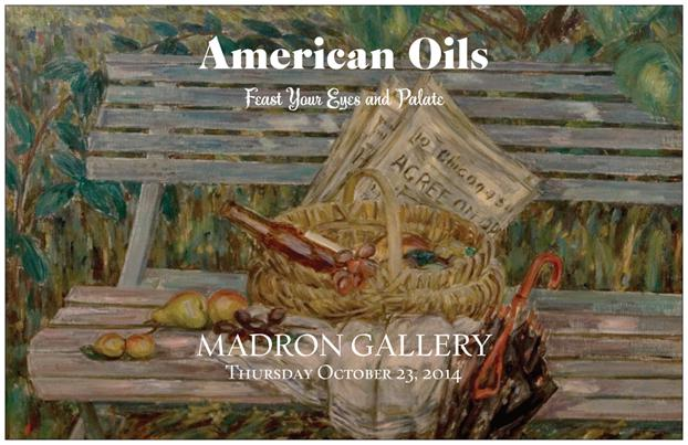 Come join us  at  Madron Gallery  for a tasting of some of our favorite  American Olive Oils surrounded by the beauty of American Art!    City Olive   is a specialty olive oil, gourmet foods boutique based in the heart of Chicago's Roscoe Village and Andersonville neighborhoods .  They offer a meticulous selection of the finest  ESTATE BOTTLED    extra virgin olive oils  , as well as olives, vinegars, tapenades, spices, pastas, mustards and other gourmet items from around the world.   Join us for wine and light hors d'oeuvres as we feast our eyes and palate on American oils!     Thursday, October 23rd from 6:00-8:00pm - THIRD FLOOR    FREE PARKING - Entrance between Peet's coffee and West Elm