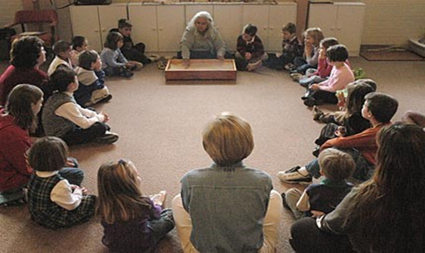 Children hearing the lesson during Godly Play