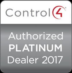Control4 Authorized Platinum dealer 2017  Control4 Authorized Platinum dealer 2016  Control4 Authorized Platinum dealer 2015  Control4 Authorized Platinum dealer 2014