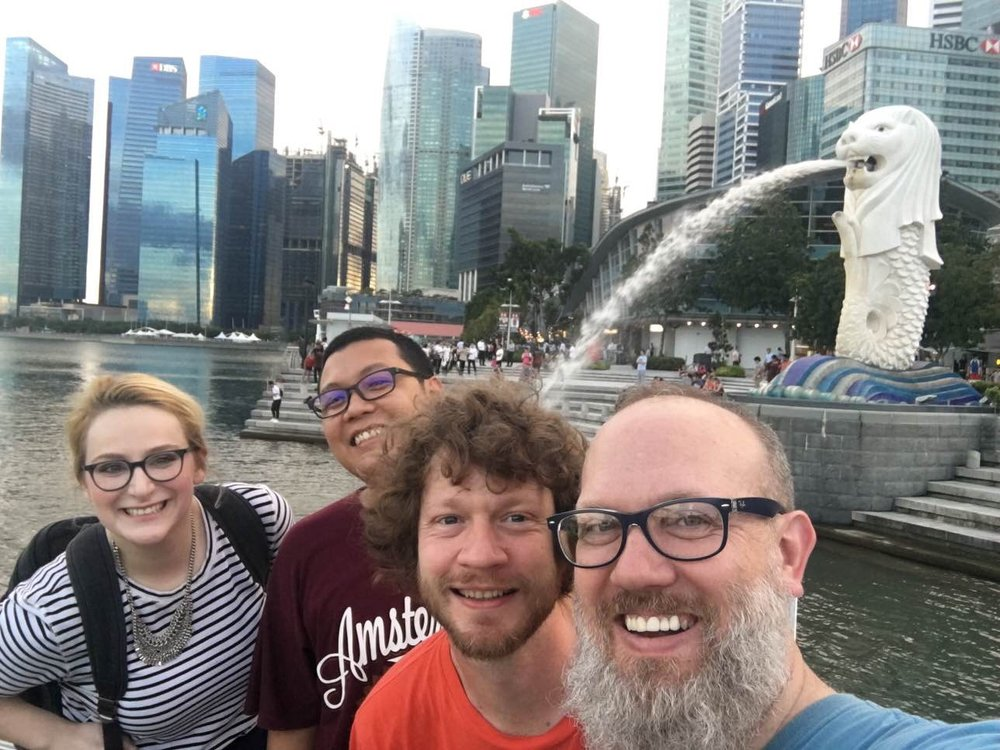 Hanging out with coworkers in Singapore