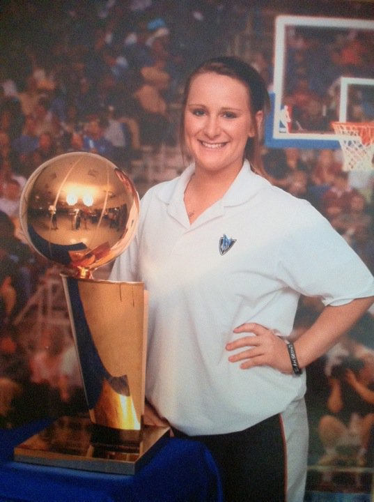 One of my deepest loves is sports, in particular basketball, specifically the Dallas Mavericks, and of course the 2011 Championship team. I made it to at least 1 game each playoff round and was in the arena the night we won. I still get chills recounting it today. That summer I worked for the Mavericks Hoop Camp so I was able to have a little mini photoshoot with the trophy. My trophy.