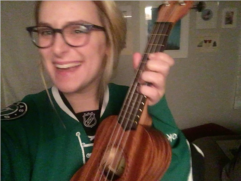 Attempting to teach myself how to play the ukulele.