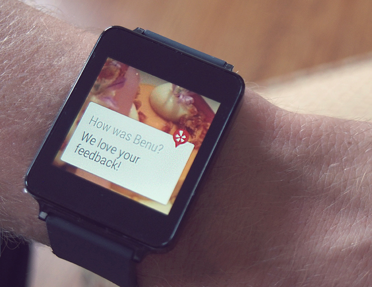 DESIGN AT YELP Android Wear | Wearable Interface