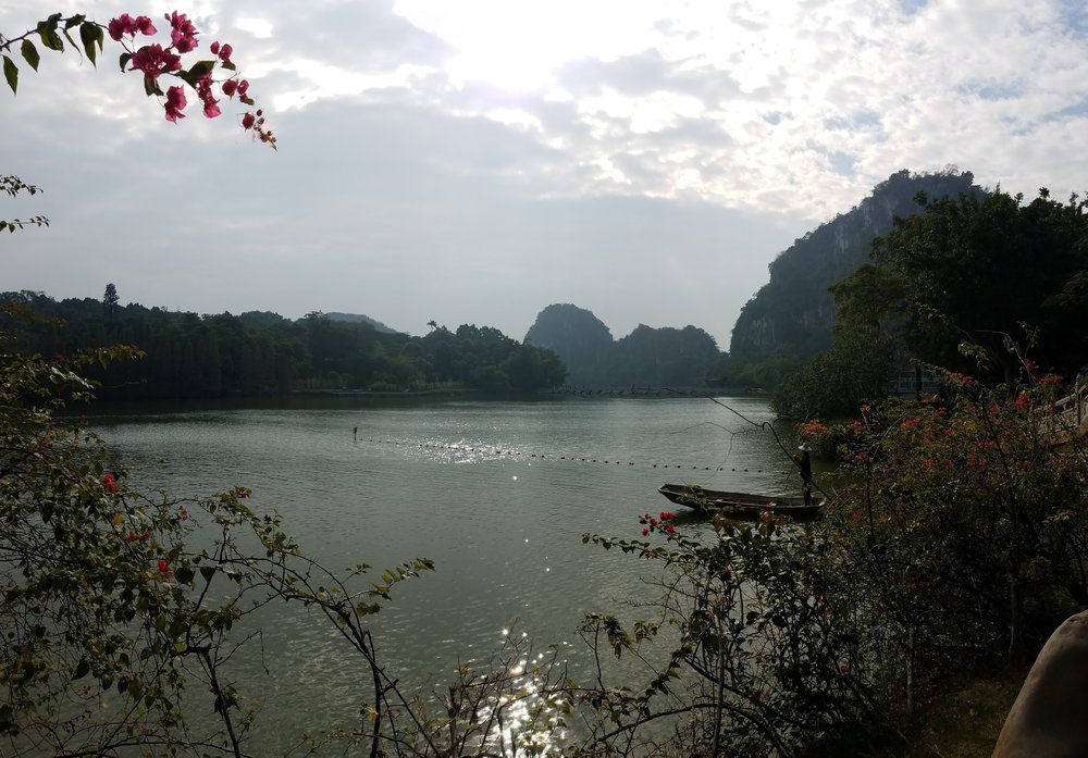 Seven Story Lakes Park in Zhaoqing, China December 2016.