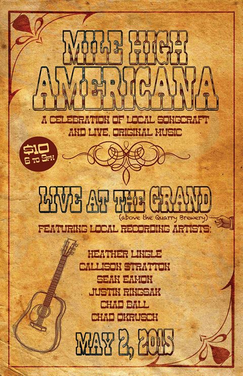 Poster from a local Americana event in 2015.
