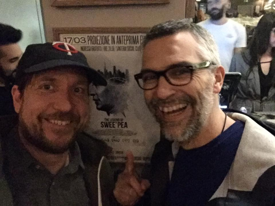 Director Ben May with Mauro Bevaqua