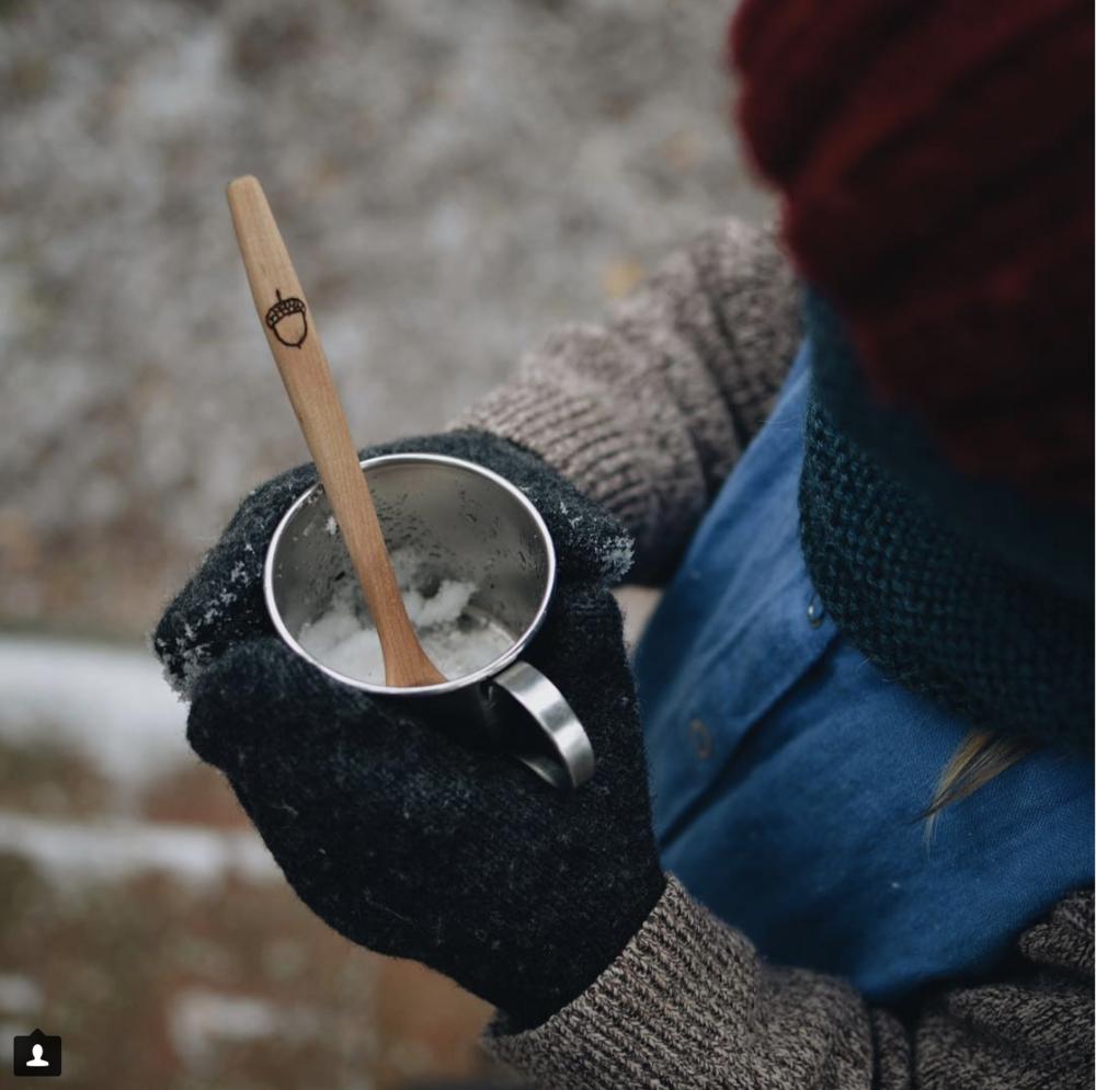 Kid's spoon  with acorn via  @danceypantsdisco