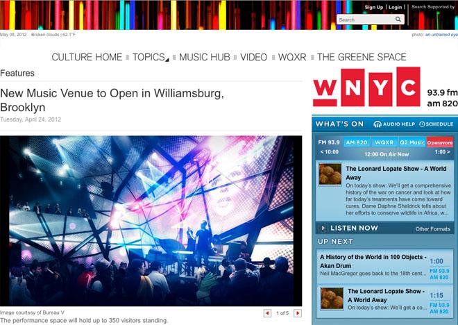 WNYC covers Original Music Workshop
