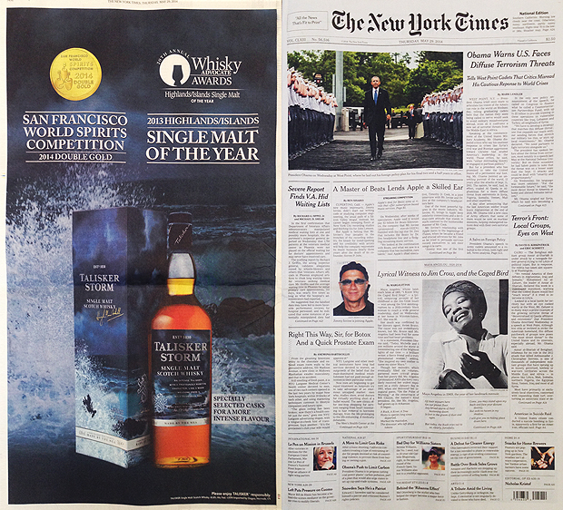 Talisker Storm in the New York Times
