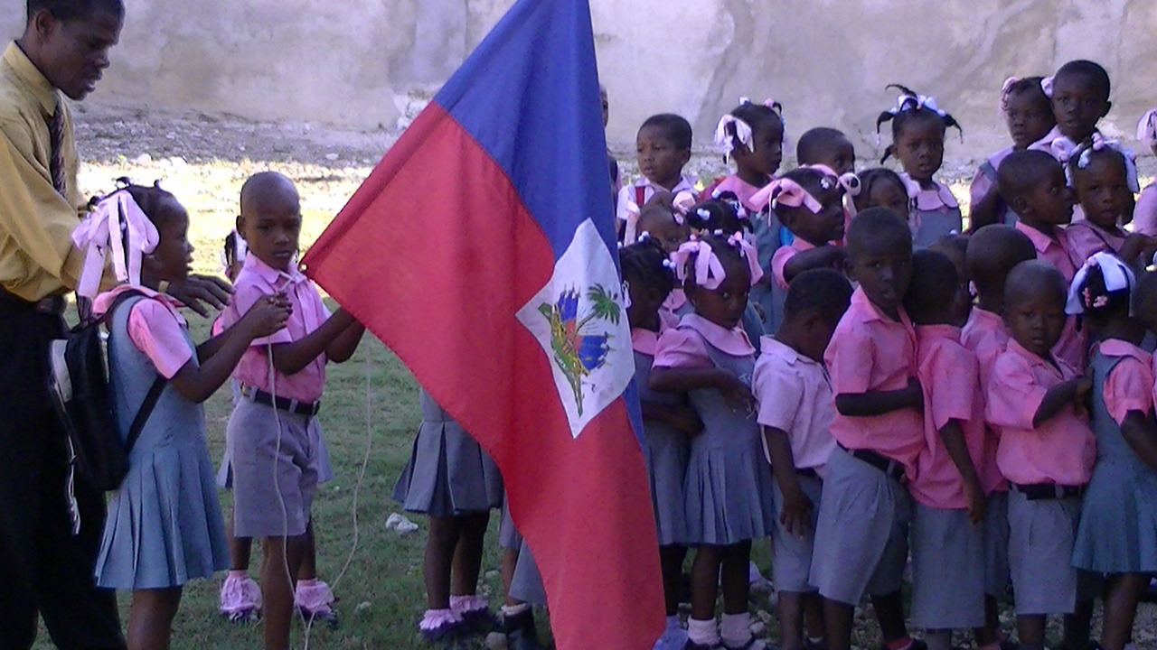The school kids in Bognotte, Haiti