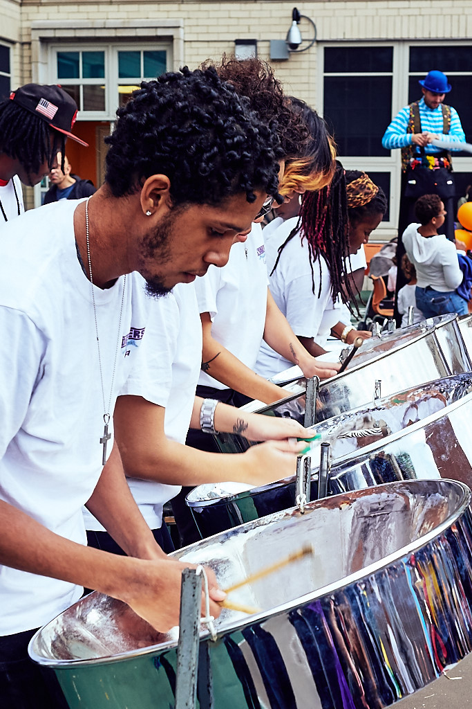 The amazingly skilled Despers Steel Orchestra
